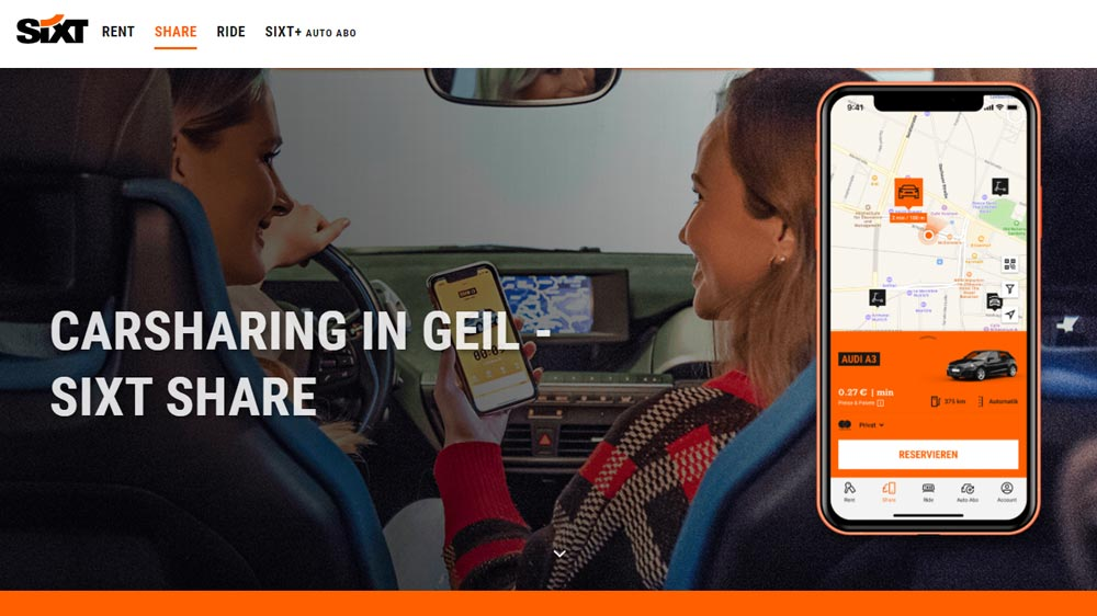 sixt share carsharing header